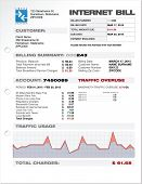 Постер, плакат: Internet Provider ISP Expenses Bill Document Template Layout Vector