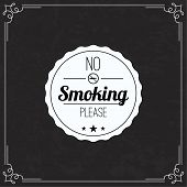 Постер, плакат: Please no smoking label