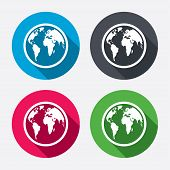 pic of geography  - Globe sign icon - JPG