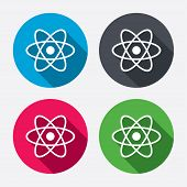 pic of atom  - Atom sign icon - JPG