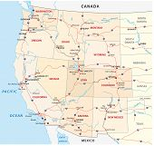 picture of western nebraska  - Map of the western united states - JPG