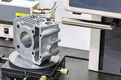 stock photo of inspection  - operator inspection roughness on surface after machining - JPG