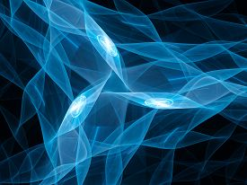 picture of nanotechnology  - Blue glowing microprocessors nanotechnology computer generated abstract background - JPG