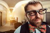 stock photo of nerds  - Strange nerd  - JPG