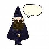 picture of wizard  - cartoon wizard with speech bubble - JPG