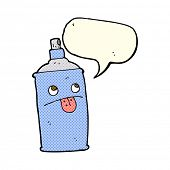 foto of spray can  - cartoon spray can with speech bubble - JPG