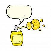 stock photo of spray can  - cartoon spray can with speech bubble - JPG