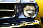image of headlight  - Color detail on the headlight of a vintage car - JPG