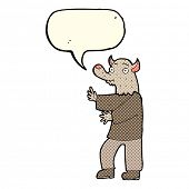 image of werewolf  - cartoon werewolf with speech bubble - JPG