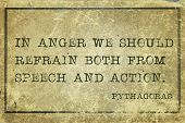 picture of anger  - In anger we should refrain both from  - JPG