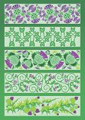 picture of celtic  - vector image ornament decorative elements in Celtic style - JPG
