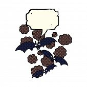 picture of vampire bat  - cartoon vampire bats with speech bubble - JPG