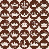 image of crown jewels  - Seamlees pattern of crowns - JPG