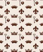 stock photo of crown jewels  - Seamlees crowns pattern - JPG