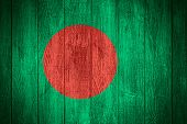 pic of bangladesh  - Bangladesh flag or Bangladeshi banner on wooden boards background - JPG