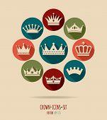 picture of crown jewels  - Crowns vintage set - JPG