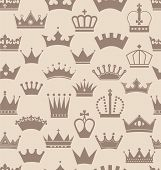 pic of crown jewels  - Seamless crowns pattern - JPG