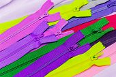 picture of zipper  - Colorful collection of zipper the concept of needlework - JPG