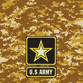 image of breastplate  - Light brown Army camouflage background for use in the field - JPG