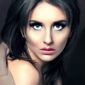 picture of woman glamorous  - Beauty Fashion Glamorous Model Girl Portrait - JPG