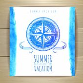 picture of wind-rose  - Watercolor Summer Typography Design - JPG