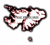 pic of falklands  - Outline blank map of the South American country of the Falkland Islands - JPG