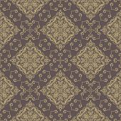 stock photo of damask  - Oriental vector fine pattern with damask - JPG