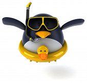 image of floaties  - Fun penguin - JPG