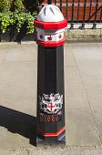 stock photo of bollard  - A painted and decorated Bollard in the City of London - JPG