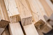 picture of lumber  - Wooden beams and planks - JPG