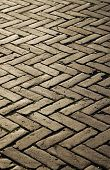 picture of pavestone  - Herringbone structure of the masonwork - JPG
