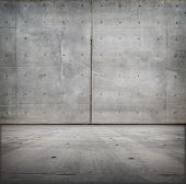 picture of court room  - Bare concrete grungy room - JPG