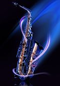stock photo of saxophones  - saxophone - JPG