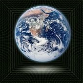 Постер, плакат: Планета eath в 3D сетки