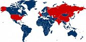 picture of chemical weapon  - World map of all countries with nuclear weapons - JPG