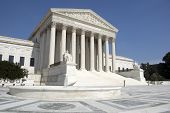 stock photo of supreme court  - The front of the US Supreme Court in Washington DC - JPG