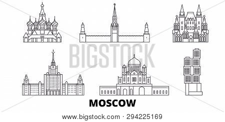 Russia Moscow Line Travel Skyline