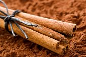 picture of cinnamon sticks  - Cinnamon Sticks with Cocoa - JPG