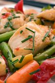 pic of thai food  - Thai Fish with Vegetable - JPG