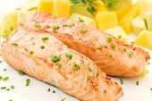 Salmon with Fruits