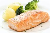 Salmon with Broccoli