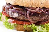 stock photo of baps  - Steak Burger - JPG