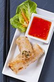 foto of lumpia  - Spring rolls stuffed with vegetable and glass noodles - JPG