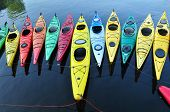 stock photo of shacks  - Kayaking ranks among the more popular water born sports on Massachusetts coat - JPG