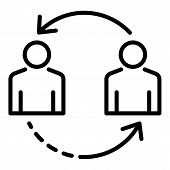 Change Personal Recruitment Icon. Outline Change Personal Recruitment Vector Icon For Web Design Iso poster