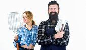 Cooking Together. Barbecuing Common Technique. Essential Barbecue Dishes. Bearded Hipster And Girl H poster