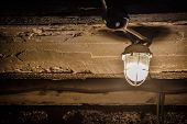 Lantern On A Concrete Ceiling In The Basement, Garage Lantern Under The Ceiling poster