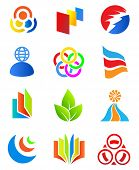 Colorful design elements 3. Editable vector. poster