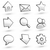 Website icons set 01: Grey variant. See more in my portfolio.