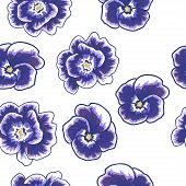 Spring Flowers Seamless Pattern Small Floral Pattern Floral Illustration And Floral Vector Pattern F poster